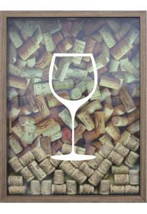 Quadro Porta Rolhas De Vinho Cm Natural