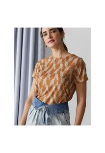 Amaro Feminino Camiseta Estampada Special, Dream Feathers Mini