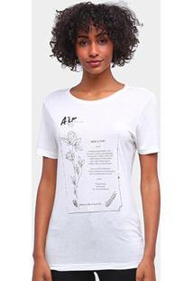 Camiseta Carmim Elementos Da Natureza Feminina - Feminino
