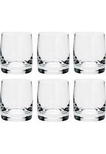 Conjunto 6 Copos De Cristal Para Shot 70 Ml Ideal - Bohemia - Transparente