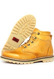 Botina Casual Cadarã§O Touro Boots Masculina Bege - Amarelo/Bege/Branco - Masculino - Dafiti