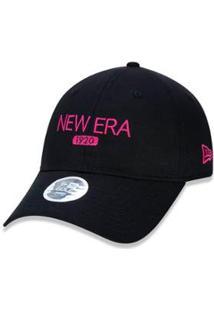 Boné New Era Golf Aba Curva Strapback - Unissex-Preto