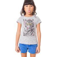 f75bfa6ff0 Camiseta Infantil Tigre Reserva Mini Feminina - Feminino-Branco+Preto