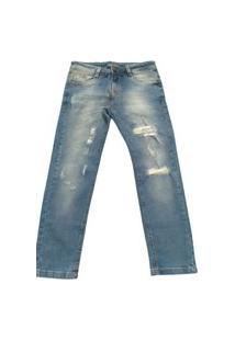 Calça Jeans Destroyed Quase Anjo