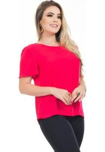 Blusa Clara Arruda Baby Look Feminina - Feminino-Pink