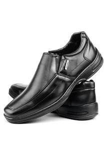 Sapato Social Confort Bico Quadrado Preto