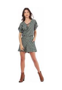 Shorts Alfaiataria Com Lapela Verde 36