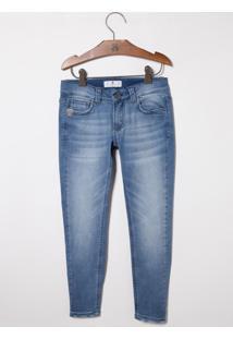 Calça John John Kids Skinny Augusto Jeans Azul Masculina (Jeans Claro, 14)