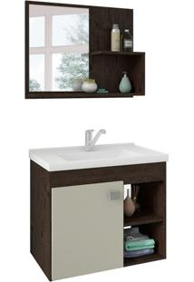 Conjunto De Banheiro Lotus Café E Off White