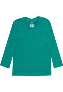 Camiseta Hering Kids Menina Lisa Verde