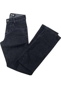 Calça Alfa Jeans Infantil Black - Masculino-Preto