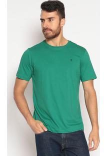 Camiseta Lisa Slim Fit - Verdeindividual