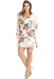 Vestido Evasê Floral Ana Hickmann - Feminino