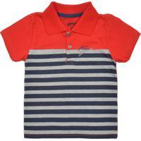 2b42e07c1e Camisa Polo Alakazoo Menino Listrado Vermelha