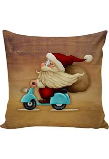 Capa Para Almofada Papai Noel- Marrom & Vermelha- 48Stm Home