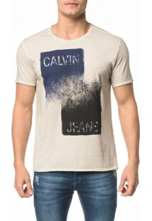 Camiseta Ckj Mc Pincelada Calvin Jeans - Pp