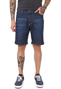 Bermuda Jeans Mcd Reta Walkdenim New Azul