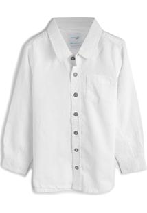 Camisa Malwee Kids Menino Lisa Branca
