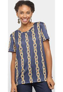 Camiseta Lança Perfume Estampada Feminina - Feminino