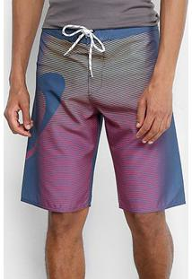 Bermuda Oakley Faded Stripes Boardshorts Masculina - Masculino