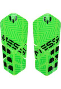 Caneleira De Futebol Adidas Messi 10 Lesto - Adulto - Verde Claro/Preto