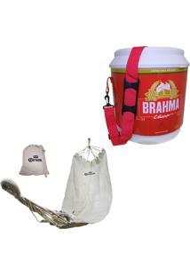 Cooler Térmico Brahma Brasil 20 Litros + Rede De Descanso Personalizada Corona