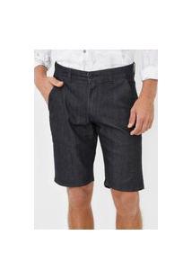 Bermuda Jeans Aramis Chino Bolsos Preta