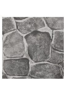 Papel De Parede Lavável Pedras Cinza Rústica 3D Fwb