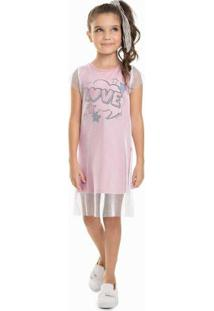 Vestido Infantil Tela Rosa
