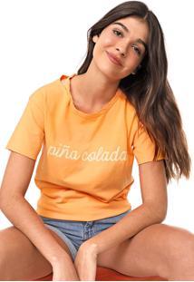 Camiseta Oh, Boy! Recorte Laranja