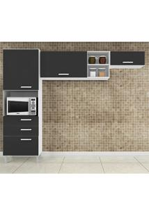 Cozinha Compacta 3 Peças Natália - Poquema - Preto