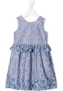 Hucklebones London Vestido Com Bordado Floral - Azul