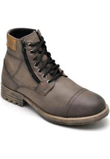 Bota Couro D&R Shoes Masculina - Masculino-Marrom