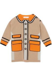 Burberry Kids Vestido Com Padronagem Trompe L'Oeil - Neutro