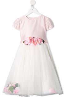 Lesy Vestido Com Cinto E Estampa Floral - Rosa