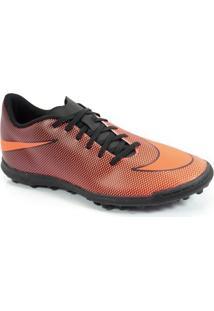 b06ca988c7 Chuteira Society Nike Bravatax Ii Laranja Preto - 844437-880