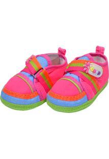Sapato Colorido Sapatinhos Baby Pink