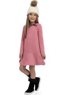 Vestido De Inverno Infantil Rosa
