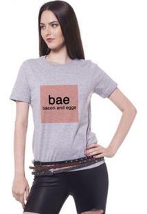 Camiseta Joss Estampada Bae Feminina - Feminino-Mescla