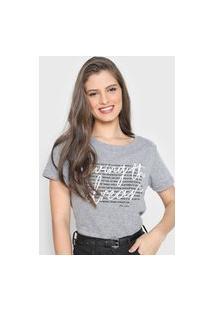 Camiseta Polo Wear Living The Dream Cinza