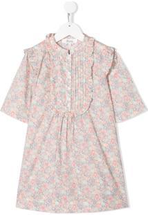 Bonpoint Vestido Reto Floral - Rosa