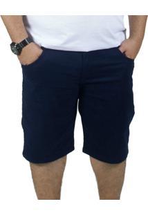 Bermuda Sarja Bigshirts Plus Size Azul Marinho