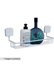 Porta Shampoo - Branco- 12,5X34X11Cm- Metaltrumetaltru