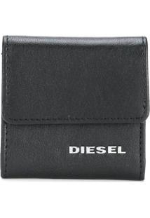 Diesel Porta Moedas De Couro - Preto