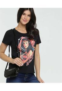 Camiseta Estampa Mulher Maravilha Warner Liga Da Justiça Feminina - Feminino