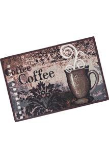 Tapete De Cozinha Jacquard 45Cm X 65Cm Coffee - Tessi