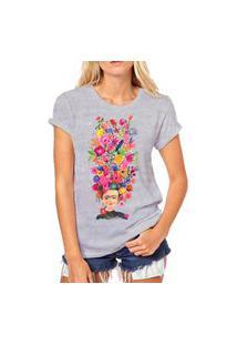 Camiseta Coolest Frida Aquarela Cinza