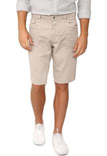 Bermuda Sarja Calvin Klein Jeans Reta Dirty Bege