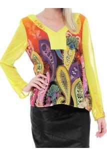 Blusa Energia Fashion Estampada Estampado