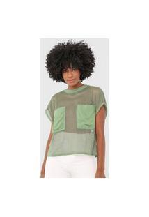 Camiseta Colcci Tela Verde